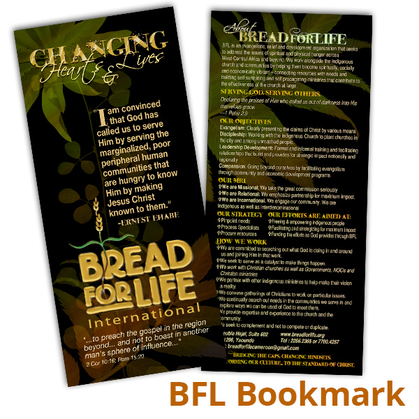 Bread For Life bookmark