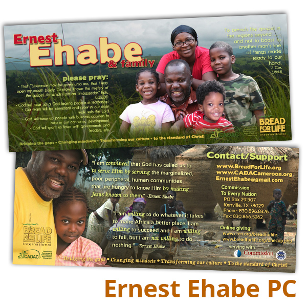Ernest Ehabe Prayer Card