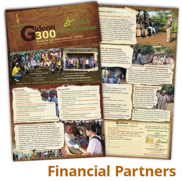 Gideon 300-Financial Supporters Brochure