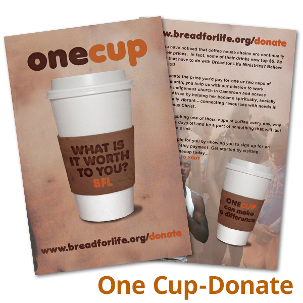 One Cup, Donate